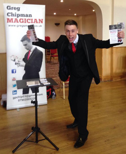 Greg Chipman - magician in Doncaster, South Yorkshire